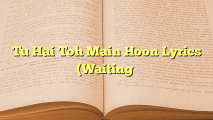 Tu Hai Toh Main Hoon Lyrics (Waiting